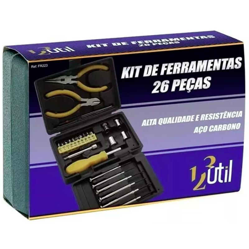Kit De Ferramentas 26 Chaves Fenda E Alicate Informática