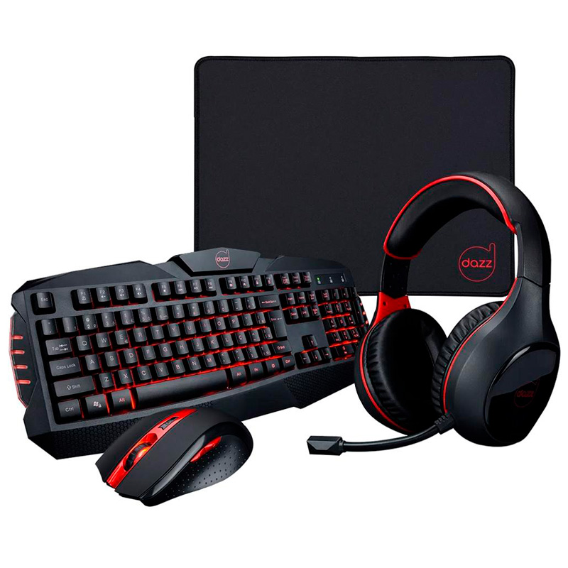 Kit Gamer Dazz Arsenal Teclado + Mouse + Headset + Mousepad - 625237