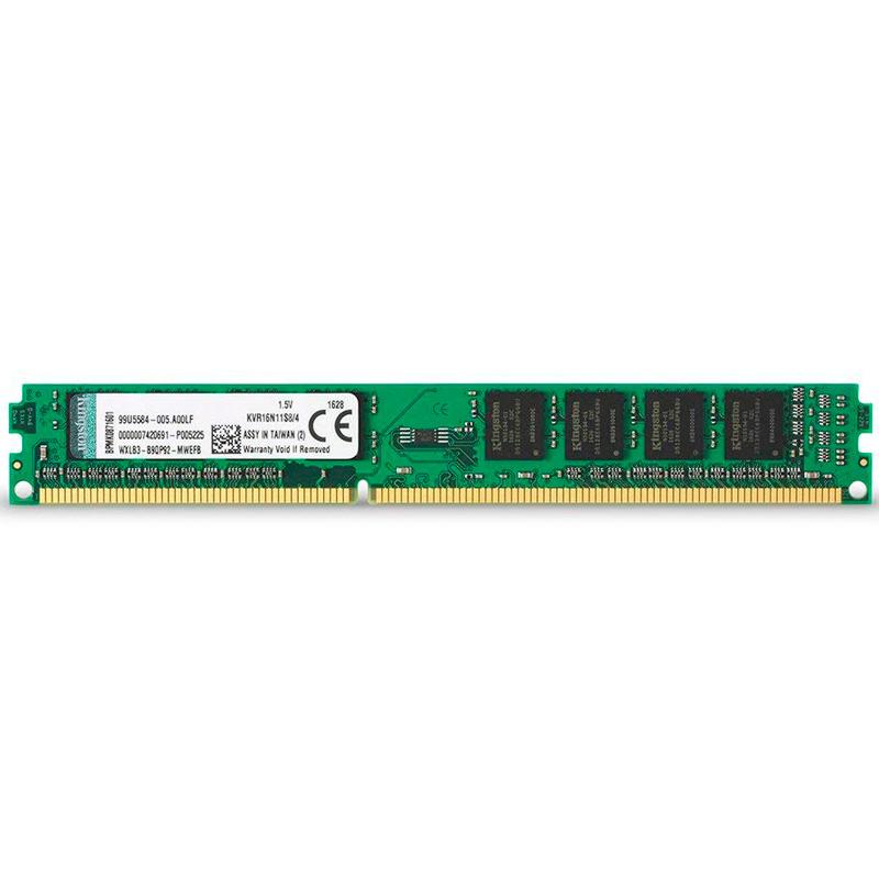 Memoria Ddr3 4gb 1600 Mhz Kingston Kvr16n11s8/4