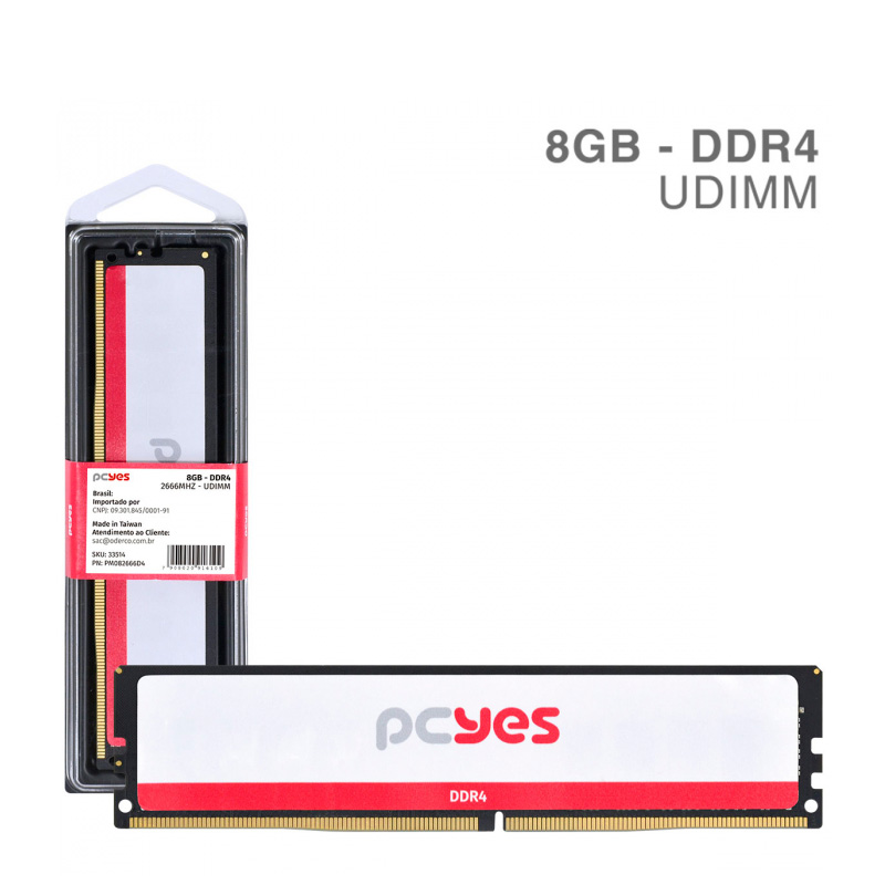 Memoria Ddr4 8gb 2666Mhz PCYes - PM082666D4