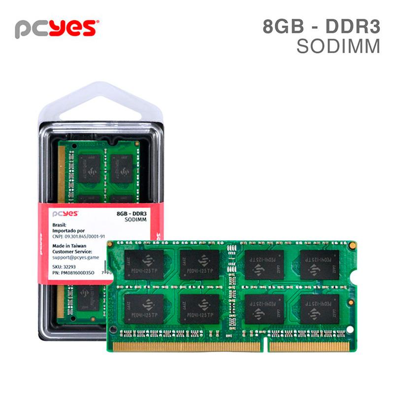 Memoria para Notebook Ddr3 8gb 1600Mhz PCYes PM081600D3SO