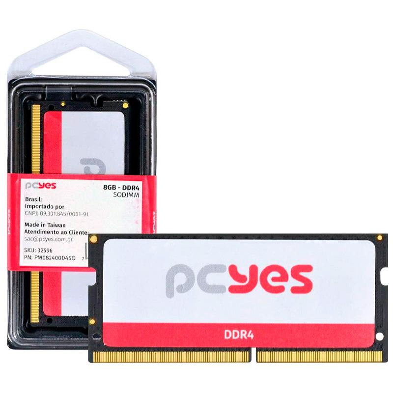Memoria para Notebook Ddr4 8gb 2400Mhz PCYes PM082400D4SO
