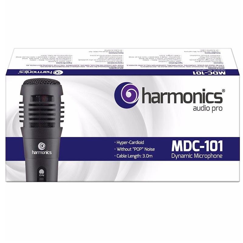 Microfone Com Fio 3 M Harmonic Vhf Mdc101