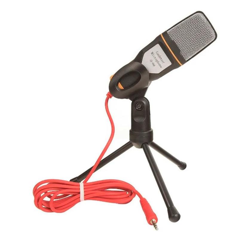 Microfone Para Computador Com Suporte Micro Condensador Xtrad Ch803