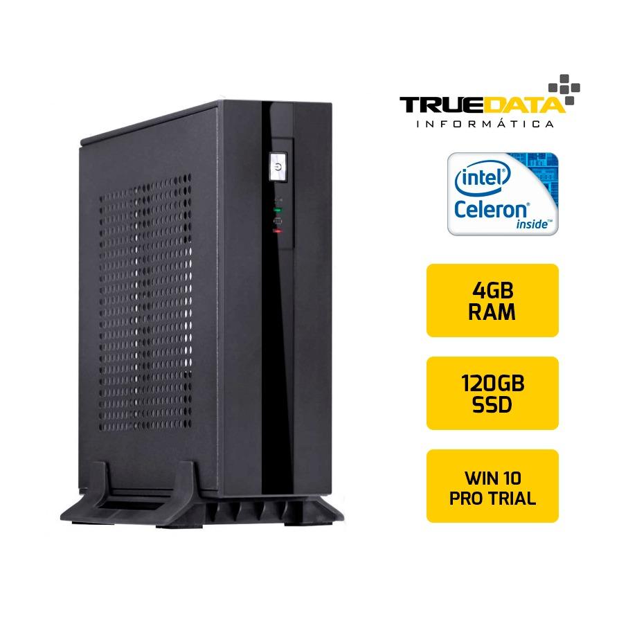 Mini Computador Desktop True Data Intel Celeron 2.41ghz 4gb Ssd 120gb Win10 Trial