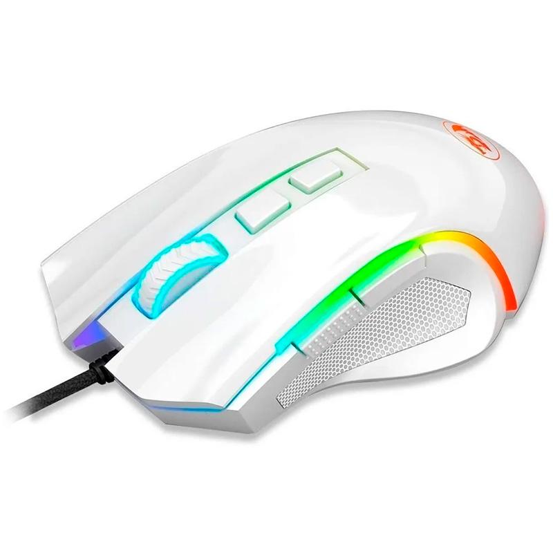 Mouse Gamer Redragon Griffin Branco RGB - M607W