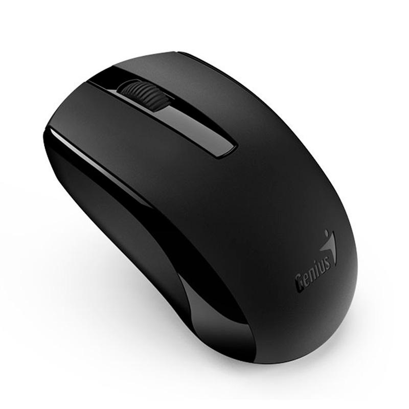 Mouse Sem Fio Genius Eco-8100 1600 Dpi Preto 31030008400 Bateria Recarregável