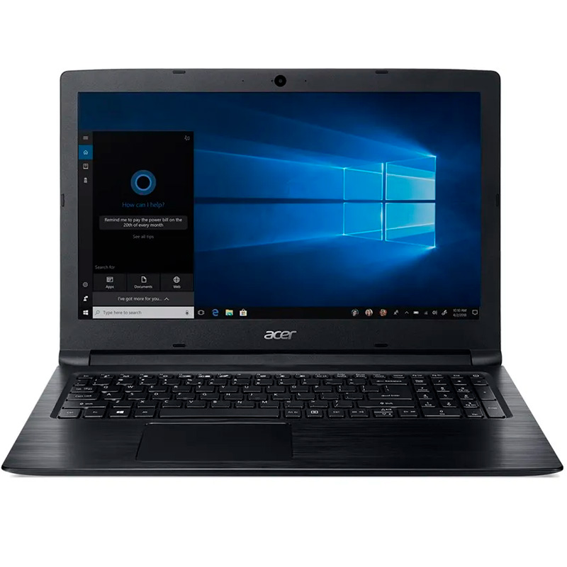 Notebook Acer A315-53-55dd I5-7200u 4gb 1tb Win10 15.6 Pols Preto