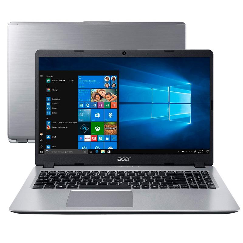 Notebook Acer A515-52-536h I5-8265u 8gb 256gb Ssd Win10 15.6 Pols Prata