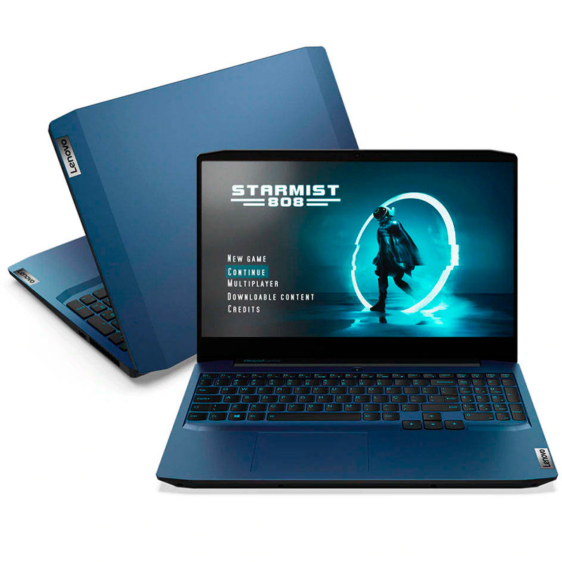 Notebook Gamer Lenovo Ideapad Gaming 3i-15IMH Intel Core i7-10750H 8gb 256Gb SSD GTX 1650 Win10 15.6 Pols Azul
