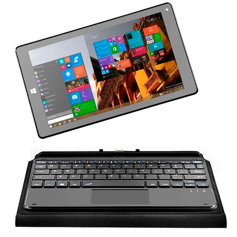 Notebook Hibrido 2 Em 1 Multilaser M8w Plus Quad Core 2gb 32gb Mmc Win10 8.9 Pols Preto Nb242