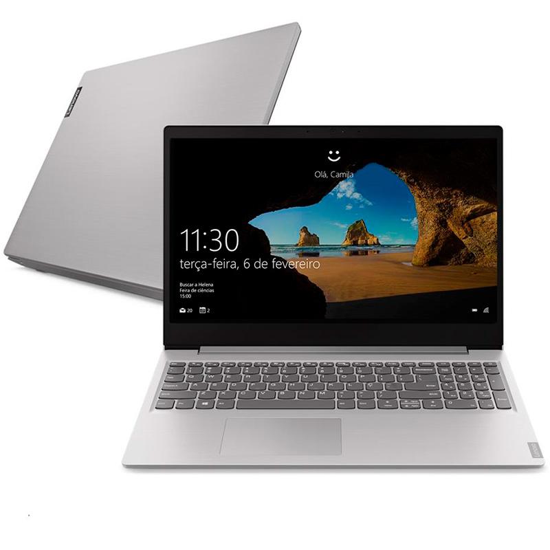 Notebook Lenovo Ultrafino Ideapad S145 I5-8265u 8gb 1tb Pl Video 2gb Win10 15.6 Pols 81s90008br Prata