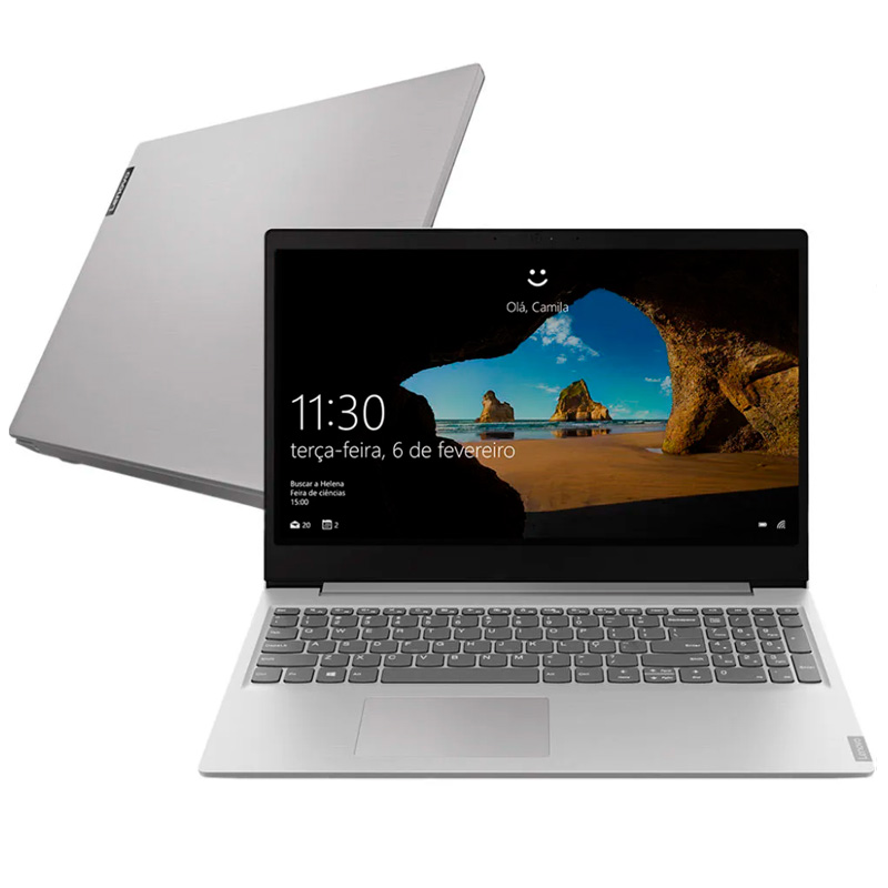 Notebook Lenovo Ultrafino Ideapad S145 I7-8565u 8gb 1tb Pl Video 2gb Win10 15.6 Pols 81s90003br Prata