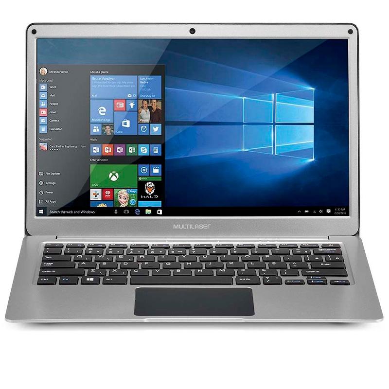 Notebook Multilaser Ultra Legacy Air Pro Pc234 Celeron 4gb 32gb Mmc Win10 Pro 13.3 Pols Prata