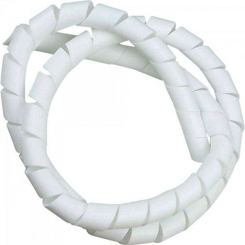 Organizador De Cabos / Fita Espiral Hellerman 1 Pols 2mt Branco