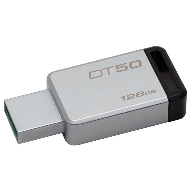 Pen Drive 128gb Kingston  Datatraveler 3.1 Metal Preto - Dt50/128gb
