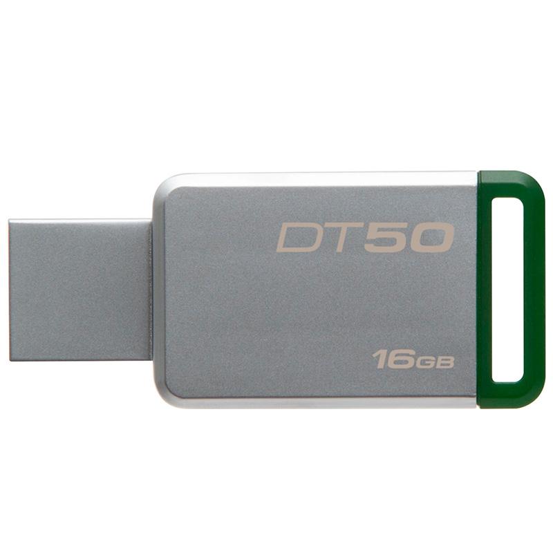 Pen Drive 16gb Kingston Datatraveler 3.1 Metal Verde - Dt50/16gb