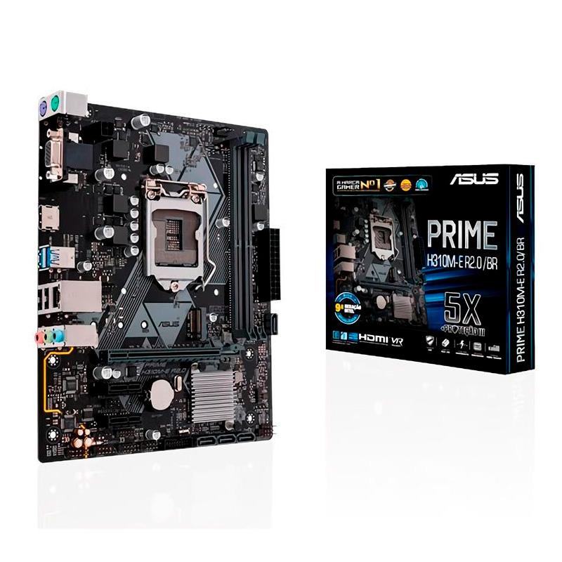 Placa Mae Asus H310m-E R2.0 / Br Intel Ddr4 Hdmi Vga Socket 1151 (8a E 9a Ger Intel) - 90mb11x0-C1bay0