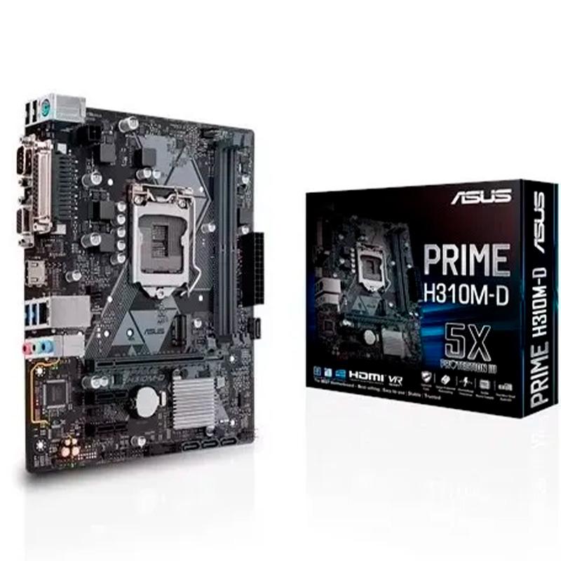 Placa Mae Asus Prime H310m-E R2.0 Intel Ddr4 Hdmi Vga Socket 1151 (8a E 9a Ger Intel)