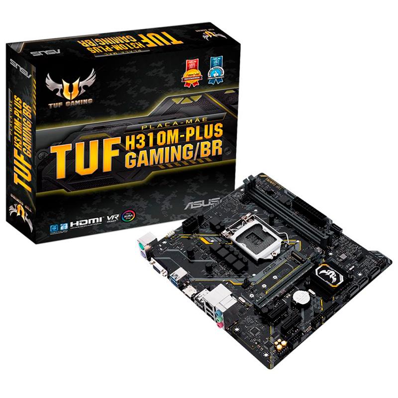 Placa Mae Asus Tuf H310m-Plus Gaming/Br Intel Ddr4 Hdmi Vga Socket 1151 (8a E 9a Ger Intel)