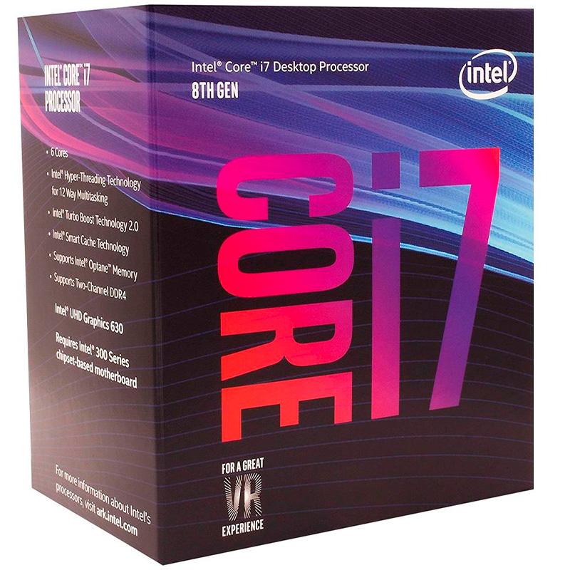 Processador Intel Core I7-8700 3.7ghz 12mb Lga 1151 - Bx80684i78700