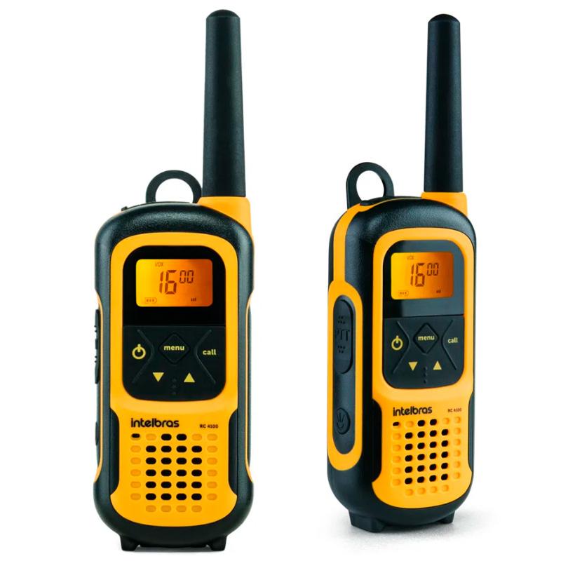 Radio de Comunicação Walkie Talkie intelbras RC4100 Amarelo - 4528102