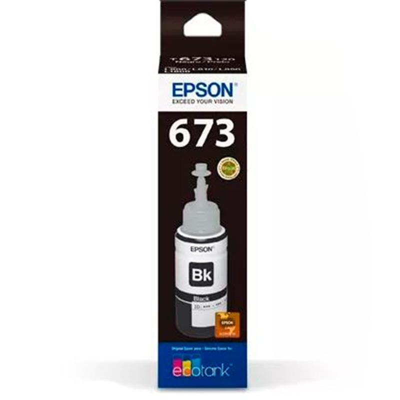 Refil Cartucho De Tinta Epson T673120 - Preto Para L800 L805 L810 L1800