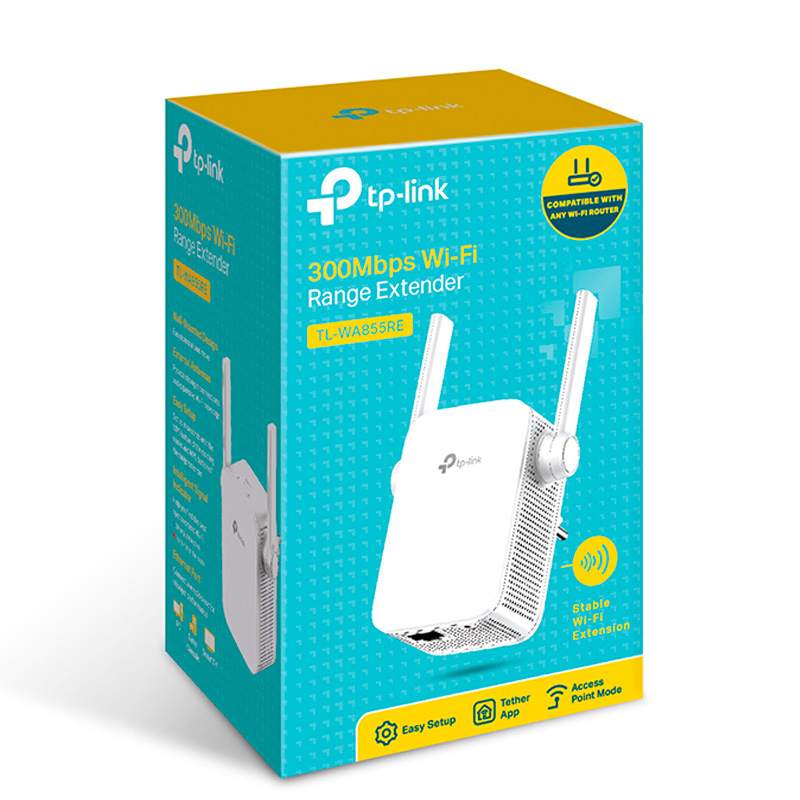Repetidor Wi-Fi TP-Link 300Mbps - TL-WA855RE