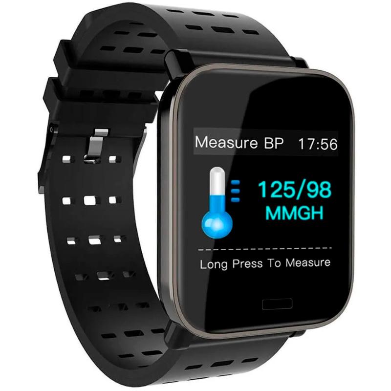 Smart Watch International Bluetooth A6 Fitness Heart Rate Preto