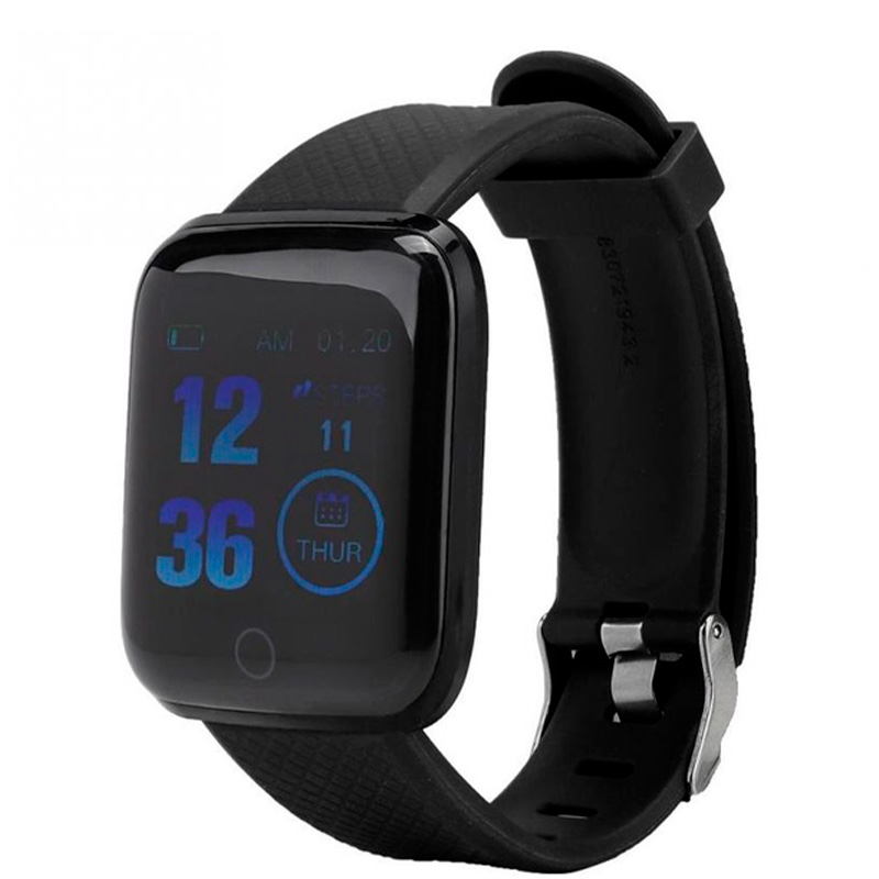 Smart Watch International Bluetooth D3 Fitness Heart Rate Preto