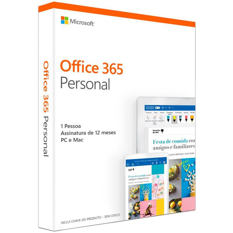 Software Office 365 Personal - Caixinha Com A Chave De Ativacao