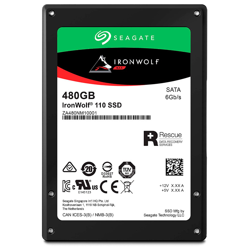 SSD Para Servidor Nas 480gb Seagate Ironwolf Sata 6gb/s - ZA480NM10011