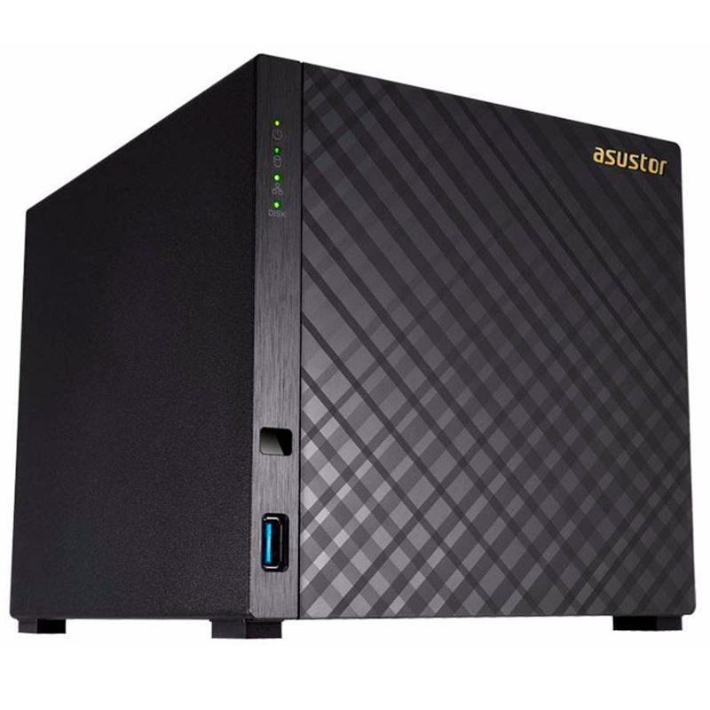 Storage Nas 4 Baias Asustor As1004t V2 Dual Core 1.6 Ghz 512mb Ddr3 - Até 56tb