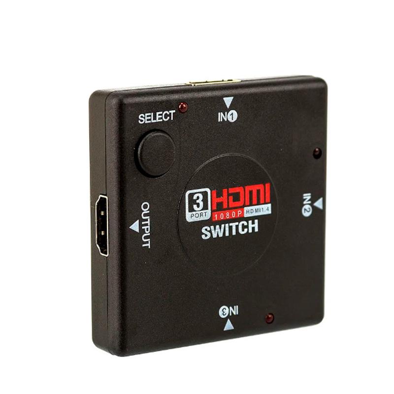 Switch Hdmi 3 Portas - Conecta Até 3 Aparelhos Em 1 Monitor