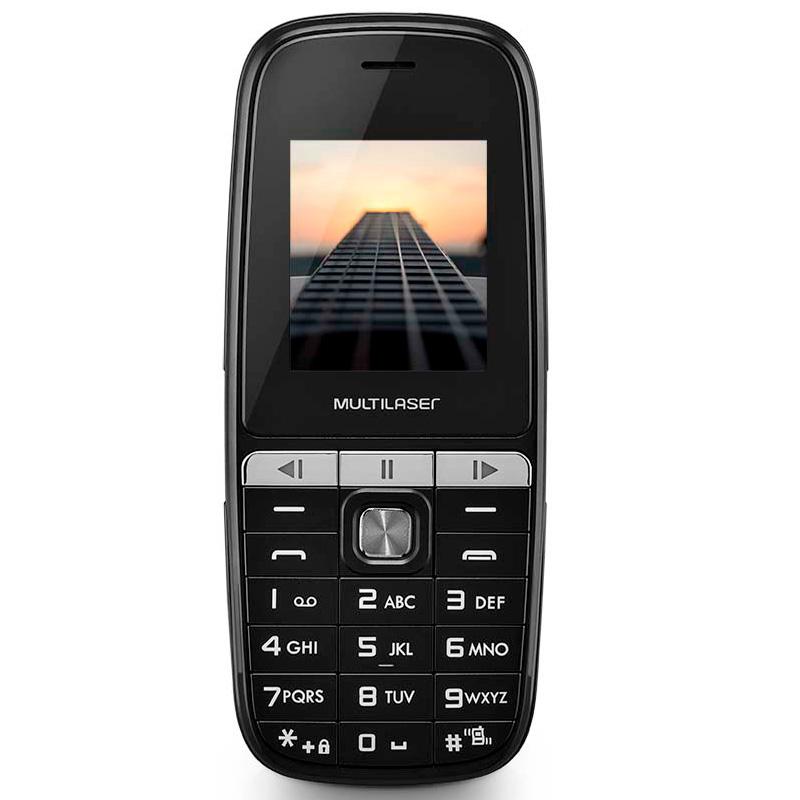 Telefone Celular Multilaser Up Play P9076 Dual Chip Mp3 Câmera Preto