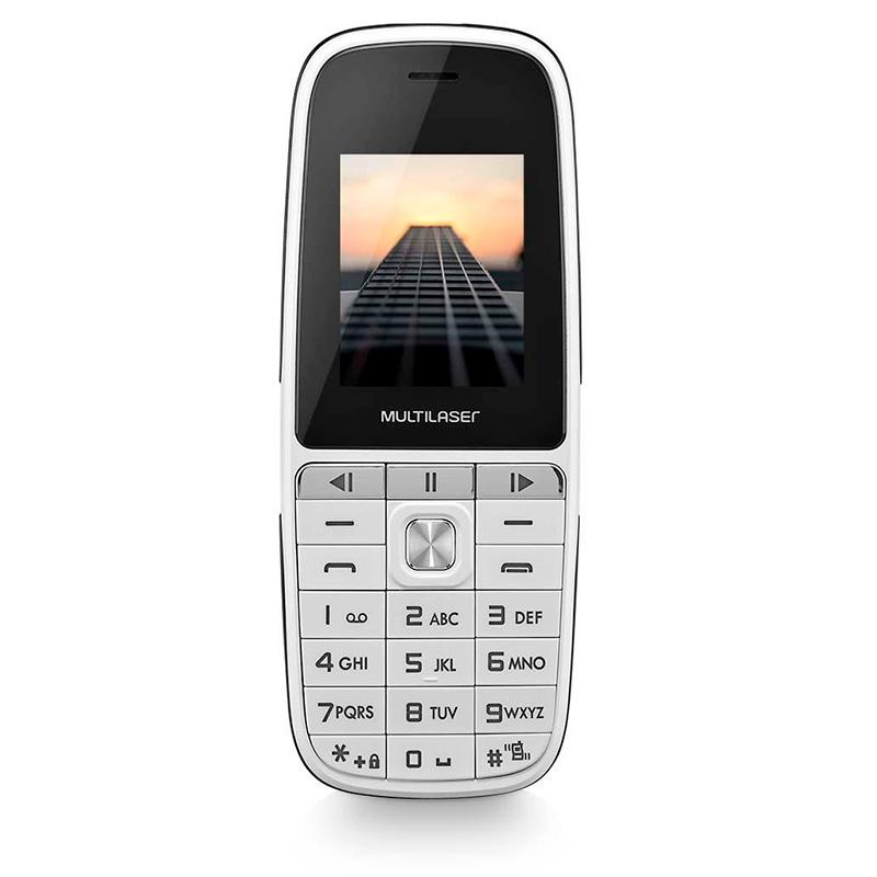 Telefone Celular Multilaser Up Play P9077 Dual Chip Mp3 Câmera Branco