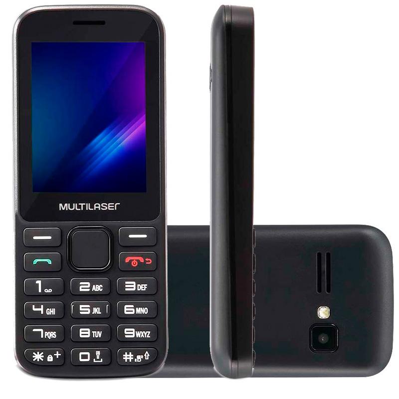 Telefone Celular Multilaser Zapp 2.4 Pols 512mb Preto Dual Chip - P9098