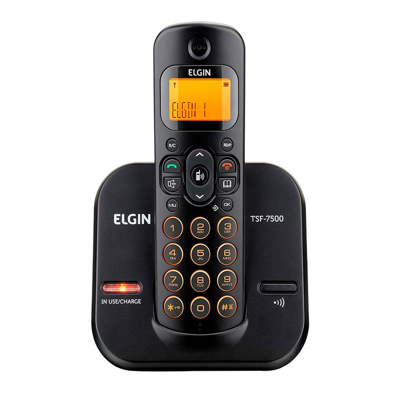 Telefone Sem Fio Elgin Tsf7500 - Dect6.0 Teclado Iluminado, Identificador De Cham