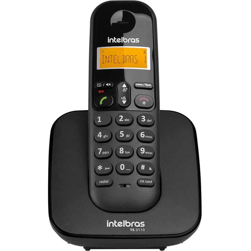 Telefone Sem Fio Intelbras Ts3110 Preto Ident De Chamadas