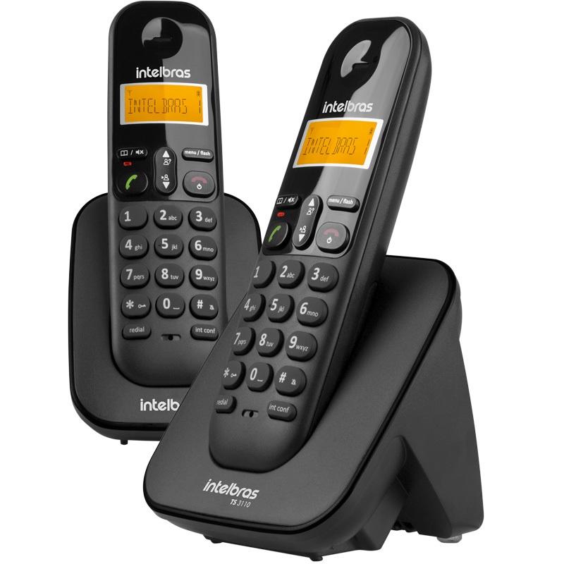 Telefone Sem Fio Intelbras Ts3112 Ident De Chamada + 1 Ramal