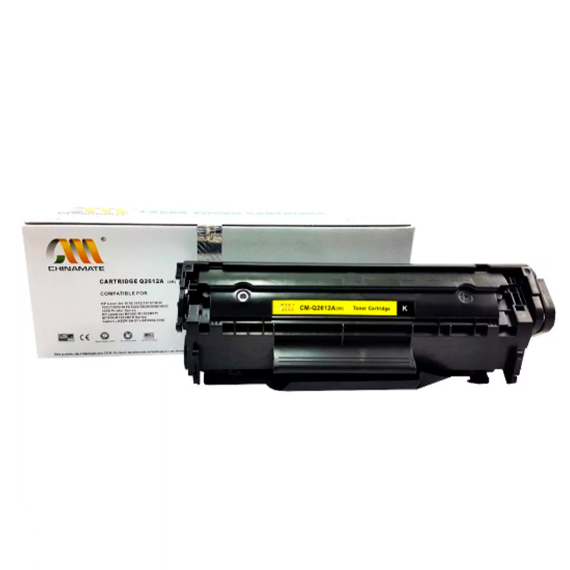 Toner Compativel Chinamate Hp Q2612a - 12a Preto