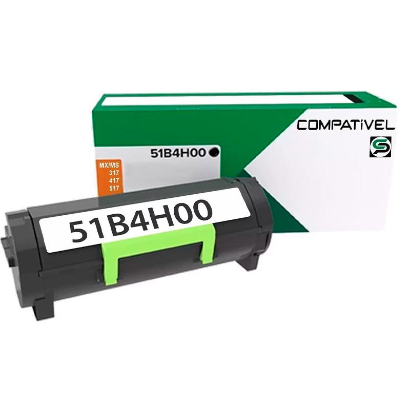 Toner Compativel Lexmark 51b4 Mx317 Mx417 Mx517