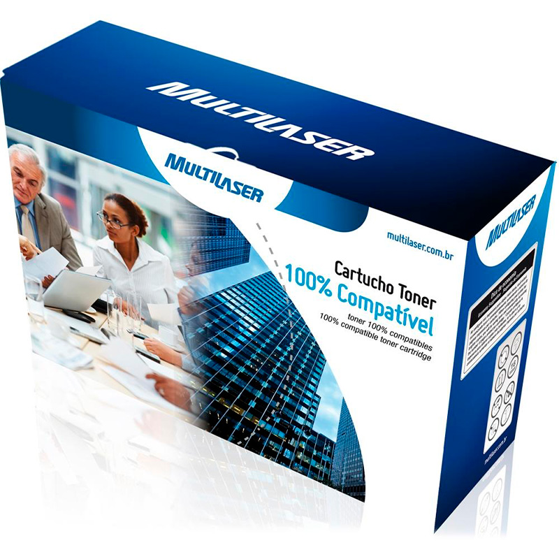 Toner Compatível Multilaser Hp Ce285a, Cb435, Cb436 Preto 2k Ct0301