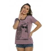 Blusa Decote Redondo Estampa Foto