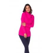 Blusa Gola Alta Tricot Pink