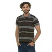 Camisa Pólo Listrado Poá