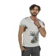 Camiseta Decote Redondo Floral
