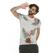 Camiseta Long Slim Floral