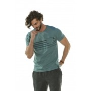 Camiseta Stripes Decote Redondo