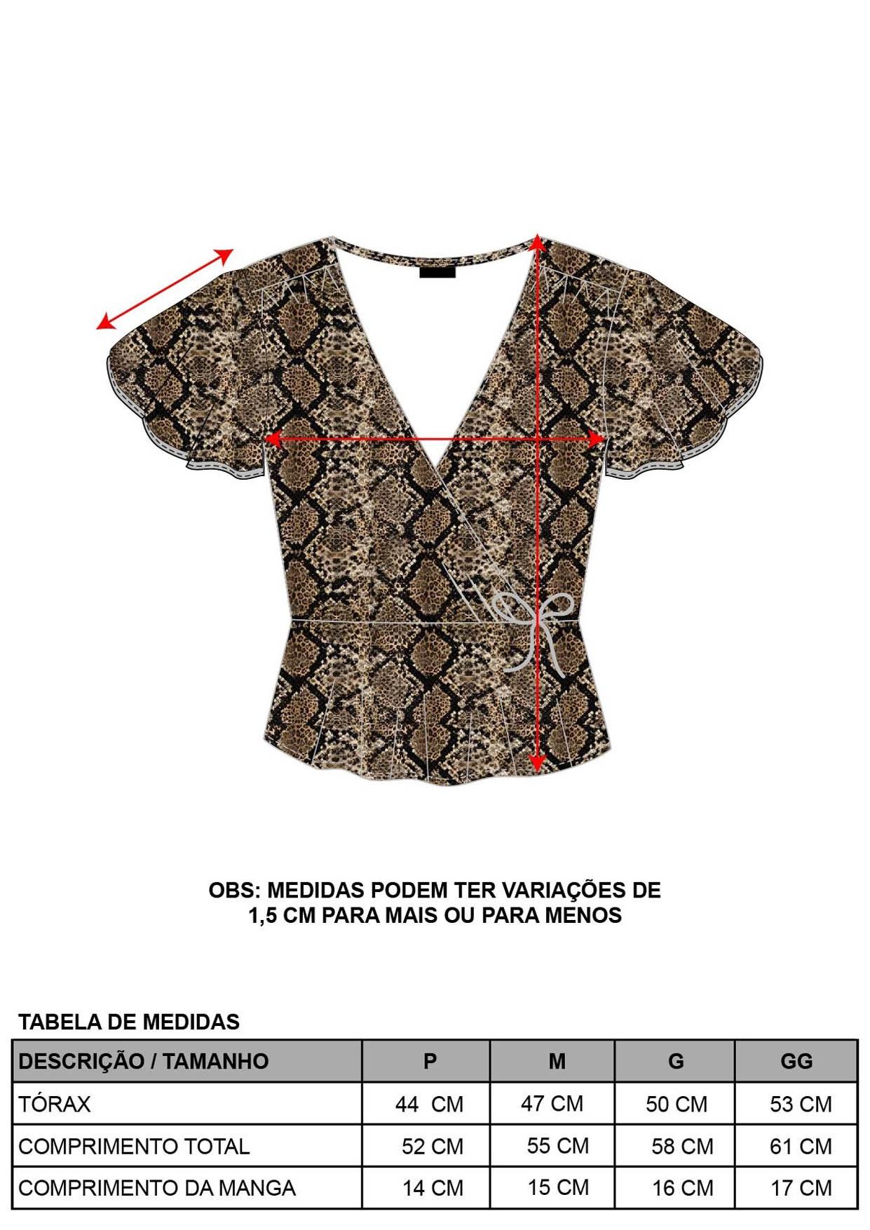 Blusa Cobra Decote V